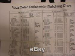 NewithOld Stock Vintage Aqua Meter Tachometer Mercury THUNDERBOLT SYS. #634 4-1-4