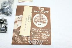 Nice VINTAGE SEA FURY K&B ALLYN 049 OUTBOARD MODEL BOAT ENGINE IN BOX With Parts
