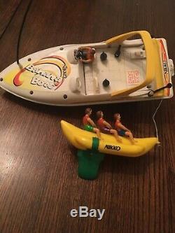 Nikki Vintage R/C Boat Ski Boat Banana Boat For Parts Or Custom RC Super Rare