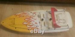 Nikko Vintage R/C RACE BOAT 127 SCALE #19010B parts or repair
