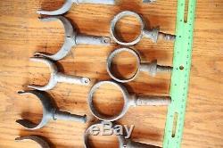 Oar Locks Vintage Lot of Canoe boat oar rests holders Cast Iron & Aluminum Parts