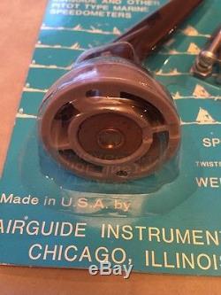 Old Boat Vintage Airguide Speedometer Pick UpPitot1977NLARare Hard To Find