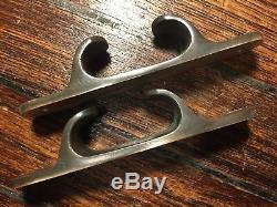 Pair Of Vintage, Cast Bronze Chocks 6 Long X 1 1/8 Wide