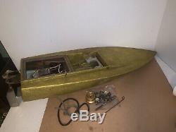 RC High Speed Boat Metallic 1960-70s RC Parts or Rebuild Vintage Servos Tank