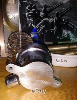 Rare PERKO Antique Chrome Brass Chris Craft GarWood Boat Light