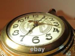 Rare! Vintage WINDSOR Clock Pot Metal Steamship River Boat Mantel Parts/Repair