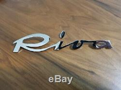 Riva vintage boat chrome plated logo badge project/restoration Large version