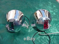 Sea Ray Bow Navigation Lights Pair Vintage 1980's Era New Nos Hard To Find