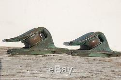 Sail Boat OPEN LEAD BLOCKS Vintage Bronze Large Sheaves No Reserve
