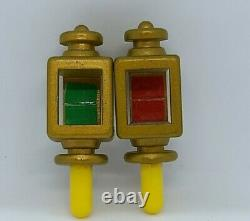 Sylvanian Families Canal Boat Lamp Light Spares Parts Vintage Red Green Barge