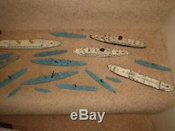 Triang minic ocean liners and ships parts etc vintage metal boats