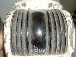 True Vintage Bronze Wilcox and Crittenden Starboard Navigation Light Glass lens