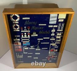 UNIQUE VINTAGE 1960s MODEL BOAT SHOP COUNTER DISPLAY WITH PARTS STORAGE