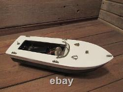 VINTAGE 1950's BATTERY POWERED WOOD TOY MODEL BOAT PARTS