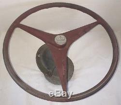 VINTAGE 1950s KAMINC Crown Logo MERCURY KIEKHAEFER 15 Boat Steering Wheel