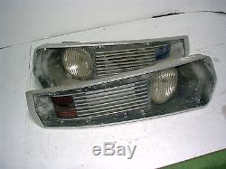 Vintage 1958 1959 1960 1961 Boat Headlights With Port + Starboard Lights L@@k