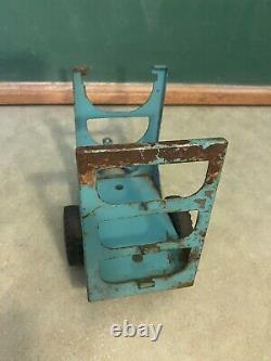 VINTAGE 1960'S TONKA 3-TIER TEAL BOAT TRAILER used for restoration or parts