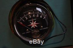 Vintage Airguide Old Boat Tachometer Tach Gauge Dash Mercury