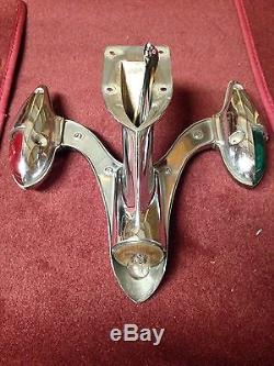 VINTAGE CHROME ATTWOOD BOAT MARKER GREEN RED BOW LIGHT SEAFLIGHT Nautical Bird
