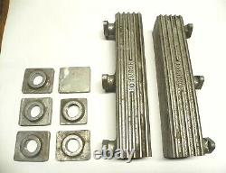 VINTAGE FORD JOHNSON V8-60 WOOD BOAT ALUMINUM EXHAUST MANIFOLDS, WithEXTRA PARTS