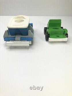 VINTAGE Fisher-Price LITTLE TRUCKS COPTER RIG & BOAT RIG Pieces 344 345 Parts
