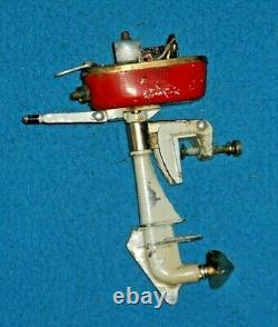 VINTAGE METAL TOY OUTBOARD BOAT MOTOR (missing parts)