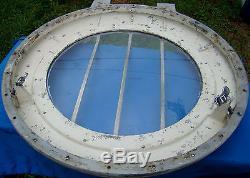 Vintage Owens Boat Top Deck Cabin Hatch Skylight Round Steampunk Porthole Style