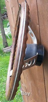 VINTAGE RIDE GUIDE BOAT wood grain STEERING WHEEL (ratrod hotrod) DECORE