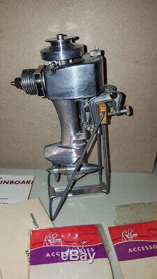 VINTAGE SEA FURY K&B ALLYN 049 OUTBOARD MODEL BOAT ENGINE WithPARTS PAPERWORK