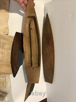 VINTAGE TILLICUM SAIL BOAT WOOD MODEL KIT FOR PARTS 17 1/4 x 3 3/4