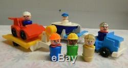 VTG Fisher-Price Little People #697 Garage Squad #345 Boat Rig & 347 Parts (B-U)