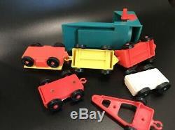 VTG Fisher Price Parts Parking Garage Ramp Lift Boat Trailer Tram Fuel Cars Dog