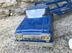 VTG Tonka Marine Service Semi Truck blue boat hauler Toy Parts Restore Steel