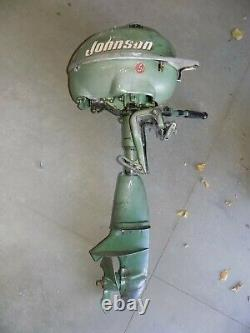 Vintage 1940's Johnson Seahorse TD20 5 Horse Outboard Boat Motor Parts Only
