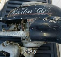 Vintage 1947 Martin Model 60 Outboard Boat Motor