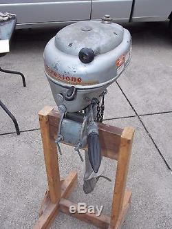 Vintage 1950-60's 3.6 HP FireStone Outboard FISHING OUTBOARD Boat Motor RUNNING