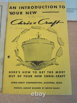 Vintage 1952 Chris Craft Boat Manual, accessory catalog Parts list for KL engine