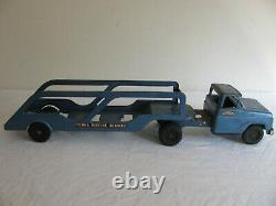 Vintage 1959-61 Tonka Toys Blue Marine Boat Transport Hauler #41 Parts / Restore