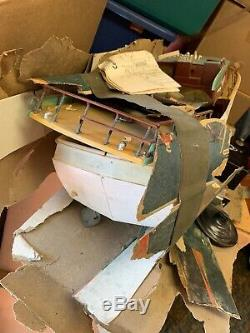 Vintage 1960's R/C Model of Chris Craft Boat Sterling Boat Model For Parts 31