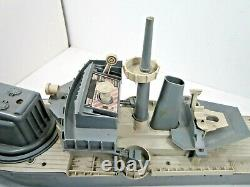 Vintage 1960's Remco Fighting Lady Battleship Boat Toy For Parts Or Repair
