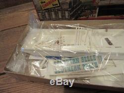 Vintage 1960s LINDBERG Southern Belle Stern-Wheel River Boat Model PARTS