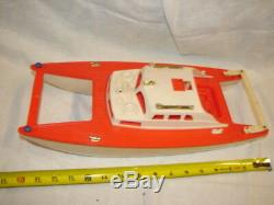 Vintage 1963 Eldon Hard Plastic Boat Ship Catamaran Miss Waikiki Toy Parts