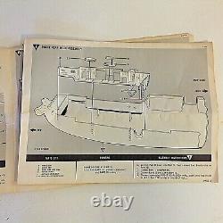 Vintage 1967 Revell U. S. S. Oriskany Ship Model Parts List Instruction Manual 67