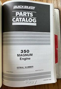 Vintage 1977 1986 Mercruiser Dealer Parts Books Shop Book All Original