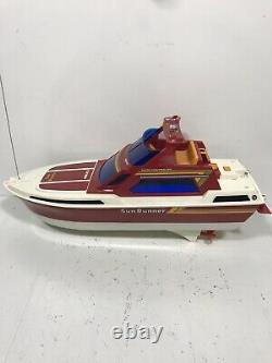 Vintage 1981 Nikko Sun Runner SN-61 Remote Control RC Boat For Parts