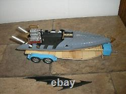 Vintage 1/24 1/25 Custom Batman Bat Boat with Trailer for parts or restore