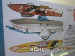 Vintage 1 25 1950's Custom Speed Boat Trailer Model Brand New Junkyard Parts Lot