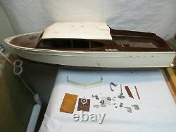 Vintage 29 Cabin Cruiser Wood Boat Model Kit with Hardware Sold As Is Parts