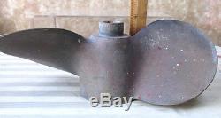 Vintage 2-BLADE Brass PROPELLER, 11, MICHIGAN, AJC120