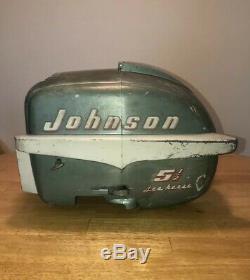 Vintage 5.5 hp Johnson Sea horse Outboard Cowling 1954-1955 5-1/2 Johnson